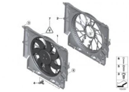 Fan housing, mounting parts