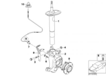 Front Spring strut/Carrier/Wheel bearing