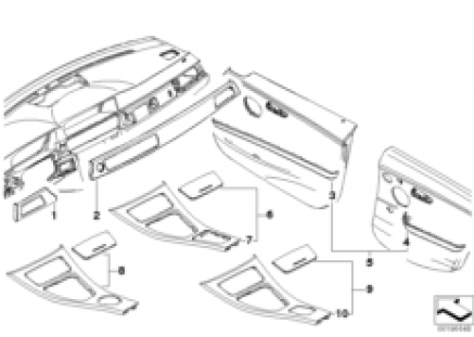 Individual wood trim covers