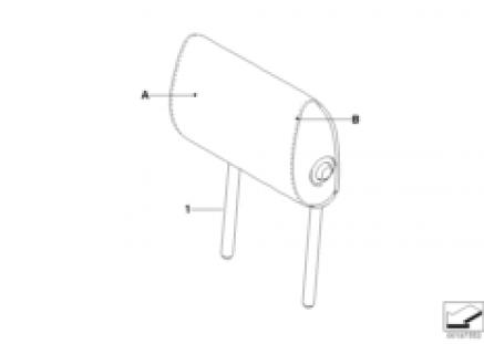 Indi. fold headrest, rear side LC