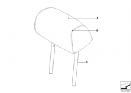 Indi. headrest, rear lateral, LC