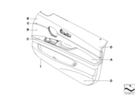 Indi. door panel, leathr trim, front, LC