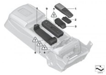 Separate components for rear telephone