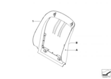 Individ. rear panel Basic /Sports seat