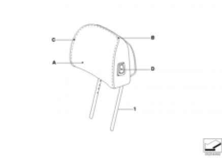 Indi. head restraint CAK base seat front