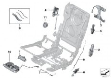 Seat, rear, drive units