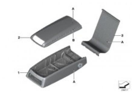 Individual armrest, basic rear