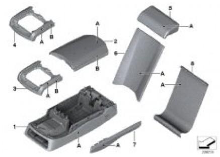 Individual armrest, multifunctional rear