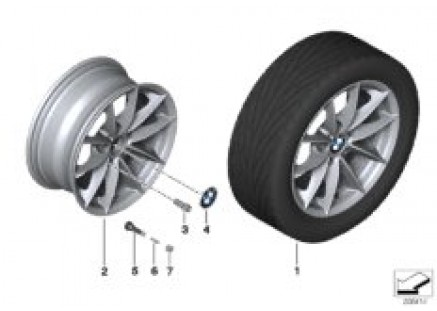 BMW LA wheel, V Spoke 360