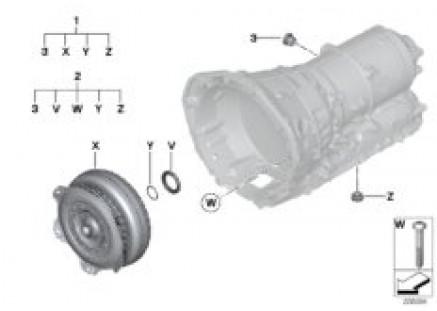 GA8HP45Z torque converter/seal elements