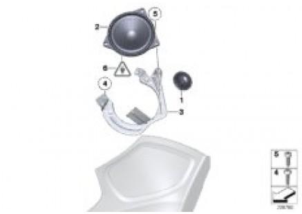 Single parts, Top Hifi system, C-pillar