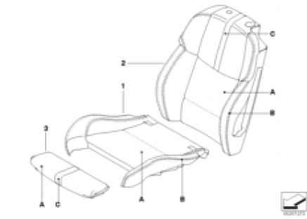 Individual cover Sport seat front KA 335