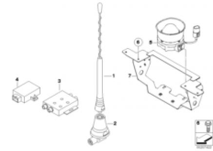 Official radio antenna/horn speaker