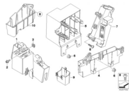 Bracket f body control units and modules