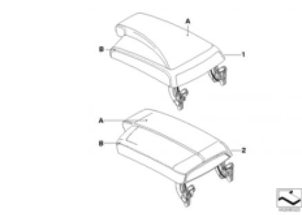 Indi. armrest, center console, KA 335