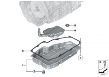 GA7AHSCD oil pan / oil filter