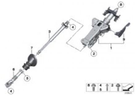 Steering column man.adjust./Mount. parts