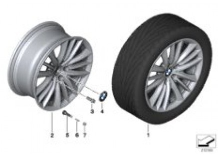BMW LA wheel W-Spoke 332 - 19''