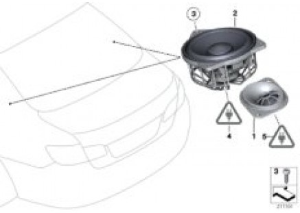 Single parts f package shelf hifi system