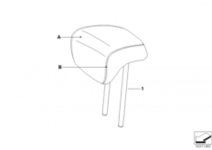 Individual headrest, rear