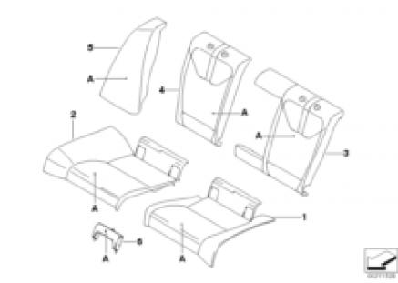 Individual seat, rear