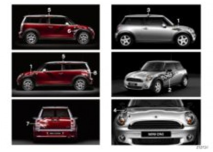 Decals for special series MINI Yours