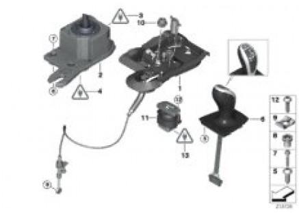 Shift mechanism dual-clutch transmission
