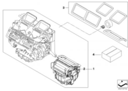 Housing parts aut.air conditioning Valeo