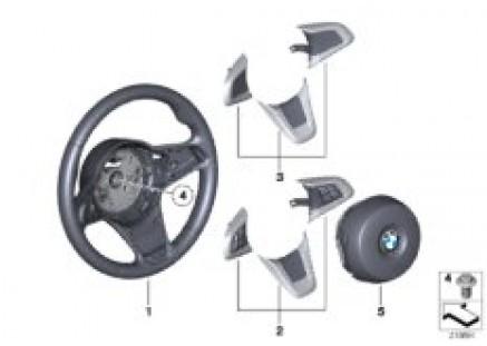 Airbag sports steering wheel, leather