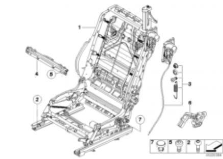 Front seat backrest frame