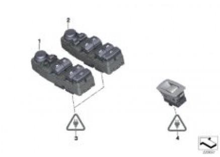 Operating unit, switch module, door