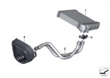Heater radiator/mounting parts