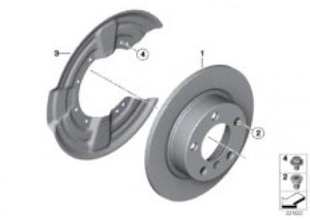 Rear wheel brake / brake disc
