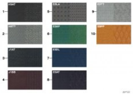 Sample page, upholstery colors, fabric