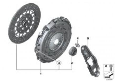 Clutch-clutch disk/pressure plate