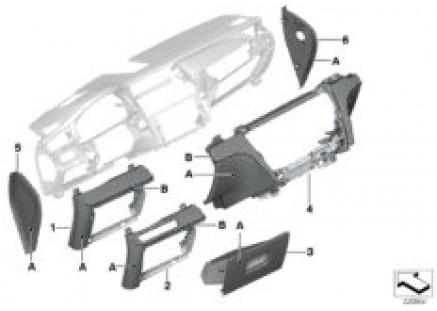 Indi. I-panel, mounted parts, lower
