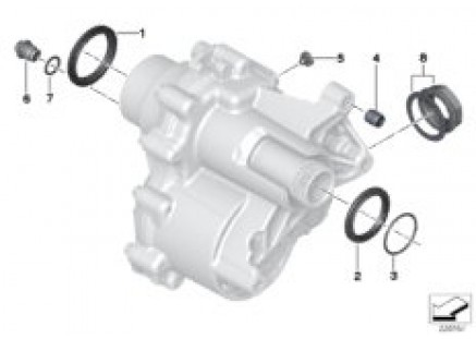 Transfer case single parts, PTO