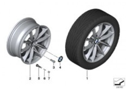 BMW LA wheel, V Spoke 304