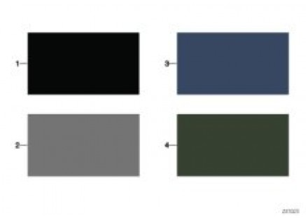 Sample chart with interior colors