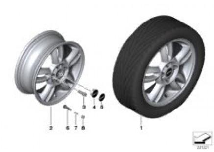 MINI LA wheel 5 Star Twin Spoke 118