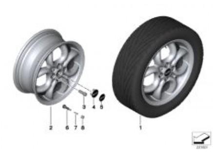 MINI LA wheel 4 Hole Circular Spoke 120