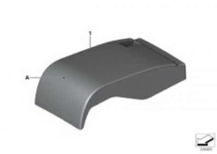 Indi. cover, Comfort seat, center rear