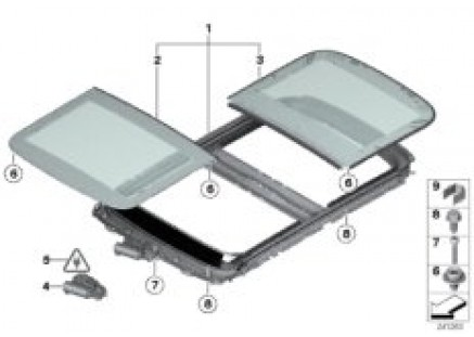 Electric panoramic roof