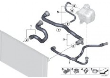 Cooling System Water Hoses