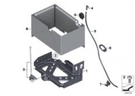 battery holder and mounting parts