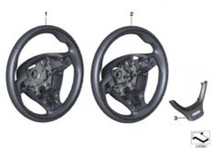 Ind.sports st.-wheel,leather w/wdn. ring