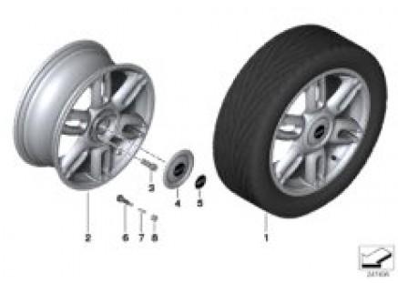 MINI LA wheel Twin Spoke 128
