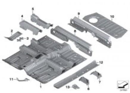 Floor parts rear interior
