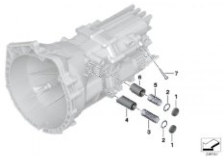 GS6-17DG Shift-control parts