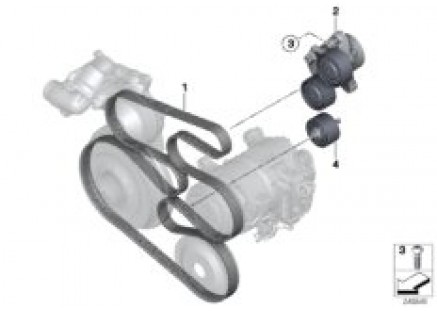 Belt drive for air cond & power steering